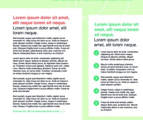 News page layout design vector 04