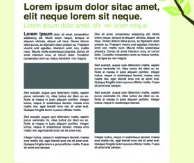 News page layout design vector 05