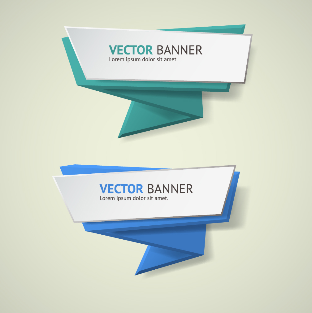 Design vector banner - Origami Business Banners Design 06
