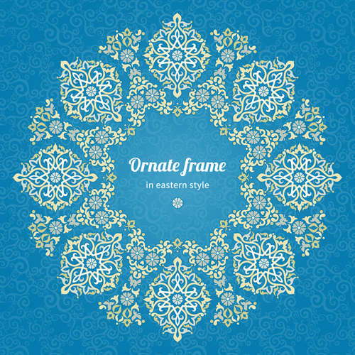 6fa51a6857da Ornate eastern style floral background vector 04 free download