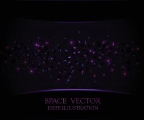 Purple light dot vector space background