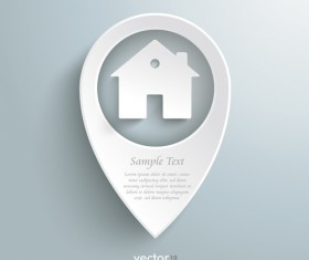 Real estate with business background vector