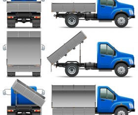 Realistic dumpers vector material