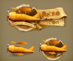 Retro style labels design 01 vector
