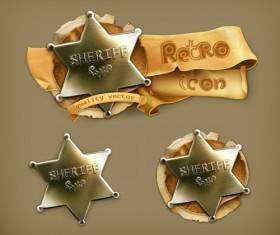 Retro style labels design 04 vector