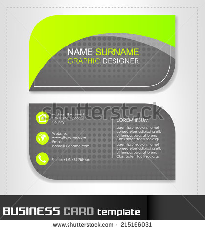 Rounded Business Cards Template Vector Material Vector Card - Rounded business card template