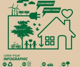 Save world eco environmental protection template vector 01