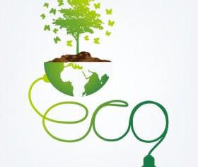 Save world eco environmental protection template vector 03