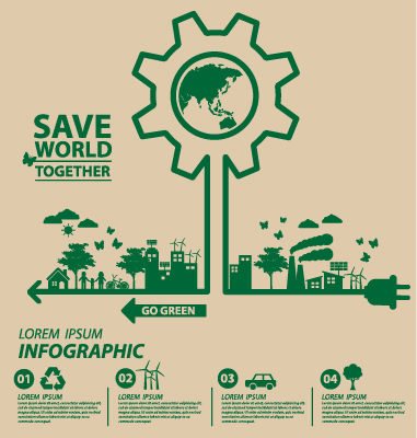 Save world eco environmental protection template vector 05 for Environmental protection plan template
