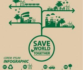 Save world eco environmental protection template vector 11