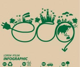 Save world eco environmental protection template vector 12