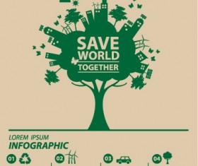 Save world eco environmental protection template vector 13
