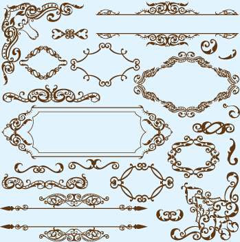simple frame with borders and ornaments vector design 03
