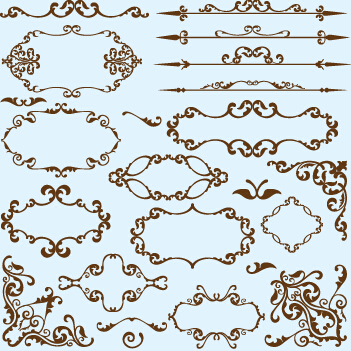 simple frame design. Simple Frame With Borders And Ornaments Vector Design 04 Simple M