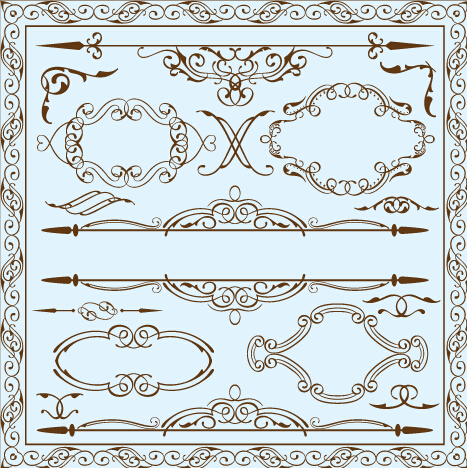 Simple Frame With Borders And Ornaments Vector Design 06