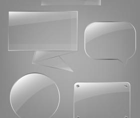 Transparent glass styles web elements vectors 02