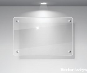 Transparent glass styles web elements vectors 03