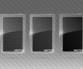 Transparent glass styles web elements vectors 07