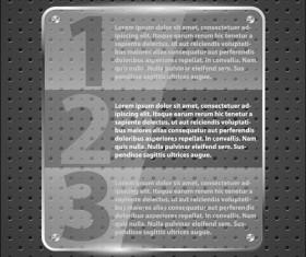 Transparent glass styles web elements vectors 08