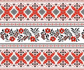Ukraine style fabric pattern vector 01