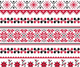 Ukraine style fabric pattern vector 05