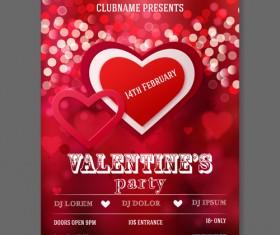 Valentine heart poster 01 vector
