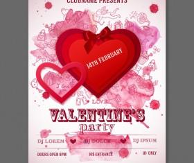 Valentine heart poster 02 vector