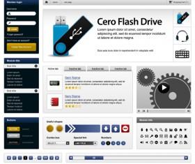 Vector business website elements kit set 01