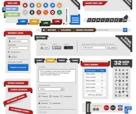 Vector business website elements kit set 02