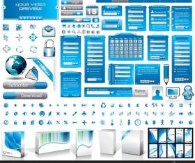 Vector business website elements kit set 03