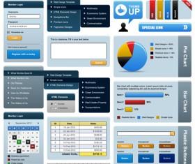 Vector business website elements kit set 04