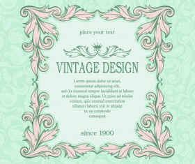 Vintage design ornate background vector 02
