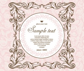 Vintage design ornate background vector 03