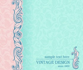 Vintage design ornate background vector 04