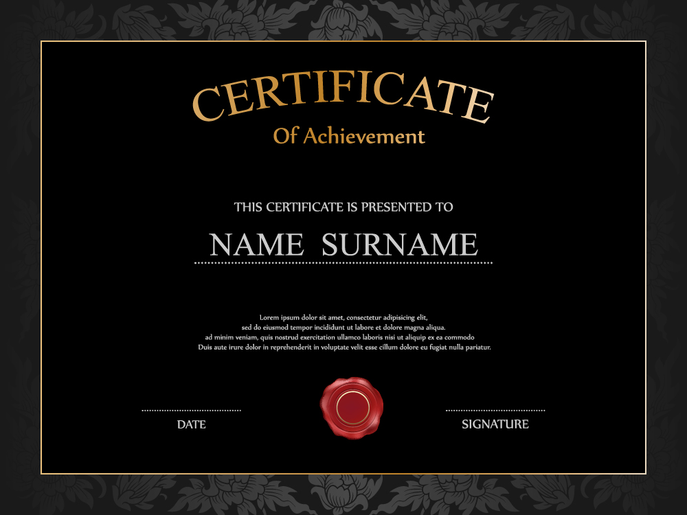 Vintage Frame Certificate Template Vectors 01 Free Download