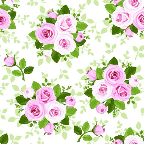 Vintage roses vector seamless pattern 01