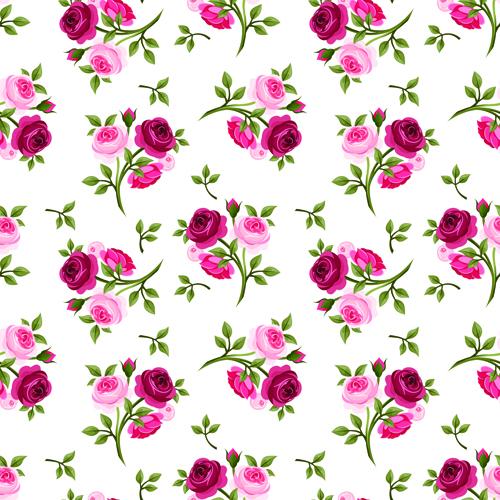 Vintage roses vector seamless pattern 04 - Vector Flower ...