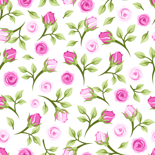 Seamless Rose Pattern | www.imgkid.com - The Image Kid Has It!