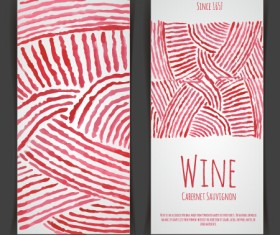 Watercolor wine stickers creative vector 02