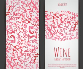 Watercolor wine stickers creative vector 04
