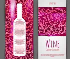 Watercolor wine stickers creative vector 05
