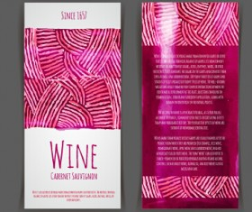 Watercolor wine stickers creative vector 08
