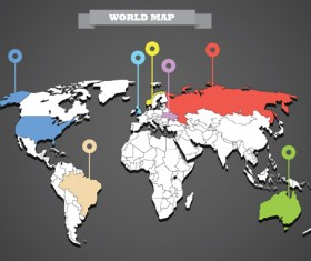 World map with business infographic vector 02