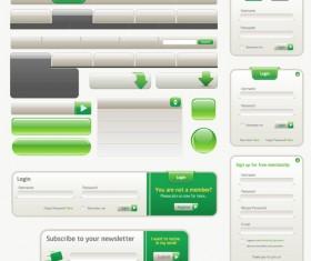 blank web navigation button with login windows vector