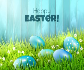2015 easter with spring background vector 02