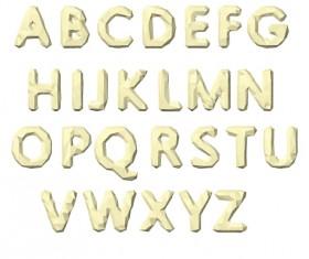 3D origami alphabet creative vector