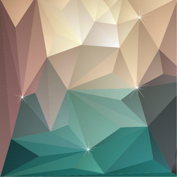 3d triangle geometric vectors background 03