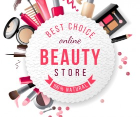 Beauty store business background vector