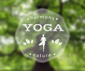 Blurred yoga creative background vectors set 02