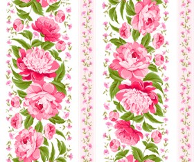 Bright flowers design vector seamless pattern 01